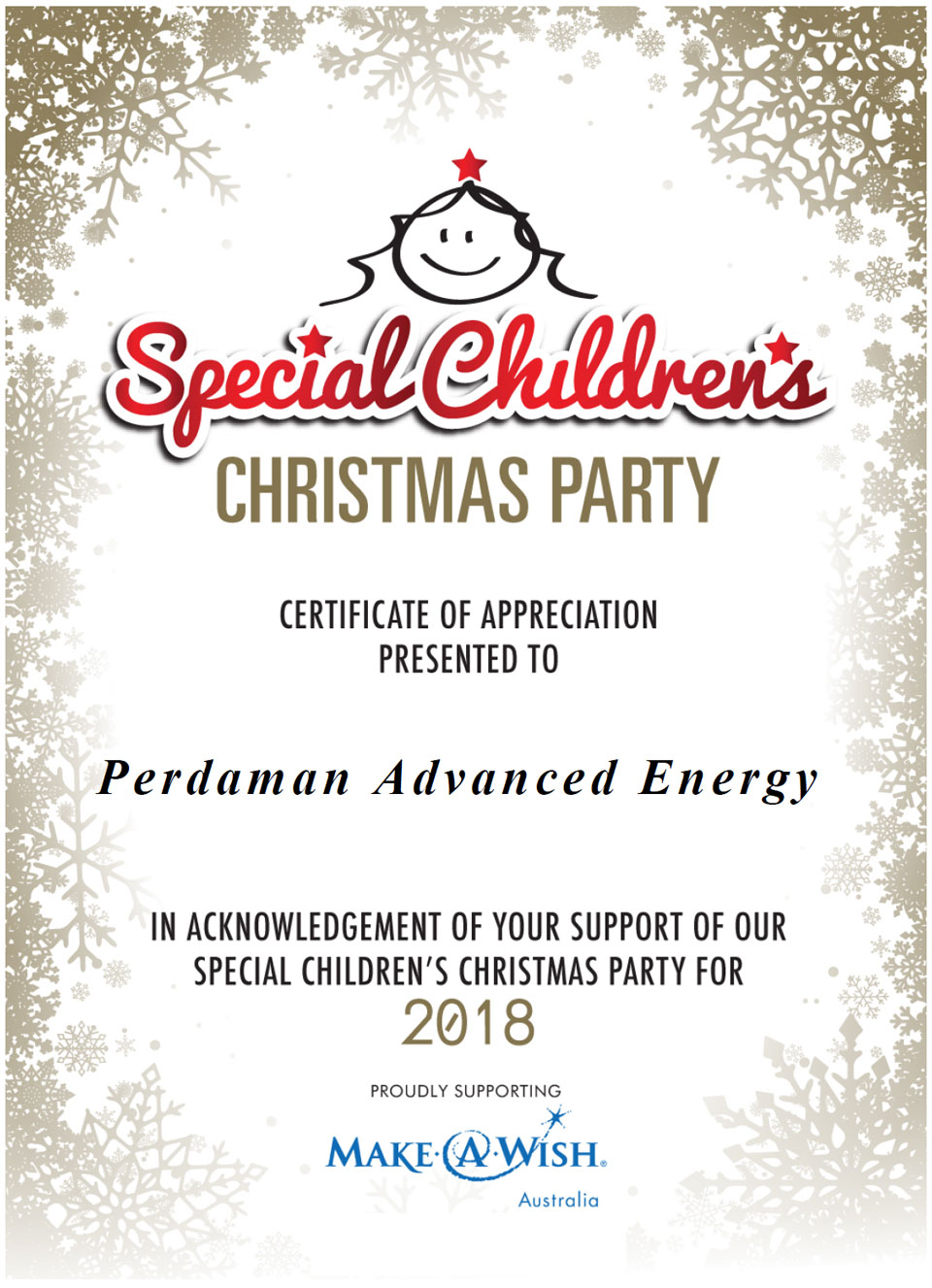 Special Children's Christmas Party 2018
