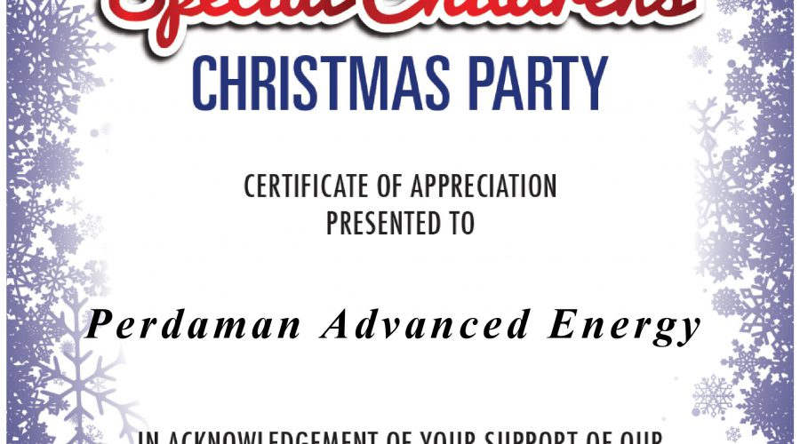 PAE is proudly supporting the Special Children's Christmas Party 2019